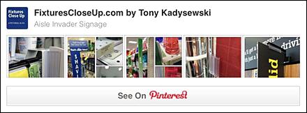 Aisle Invader Sign FixturesCloseUp Pinterest Board