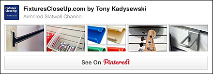 Armored Slatwall Channel FixturesCloseUp Pinterest Board