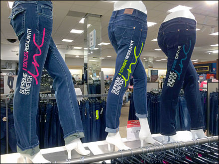 Billboarding Color Coded Jeans Three Main