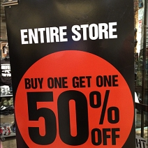 BOGO 50% Off Entire Store CloseUp
