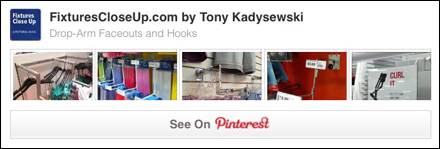 Drop Arm Faceouts and Hooks FixturesCloseUp Pinterest Board