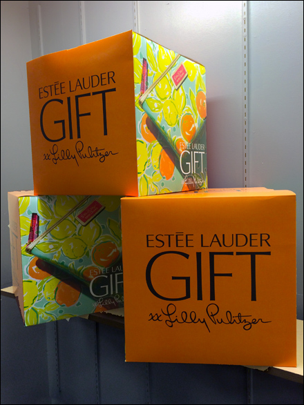 Estee Lauder Lilly Pulitzer Gift Cubes Tall