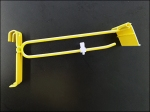 Grid Hook in Yellow Flat Metal Backplate 1