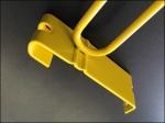 Grid Hook in Yellow Flat Metal Backplate 3