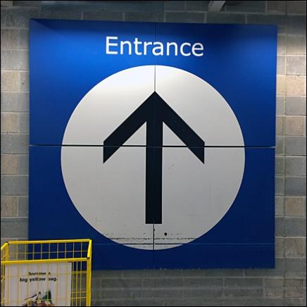 IKEA Entrance Wayfinding at IKEA