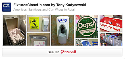 Sanitizers and Cart Wipes FixturesCloseUp Pinterest Board