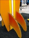 Summer Surfboard in Corrugated Skeg Detail