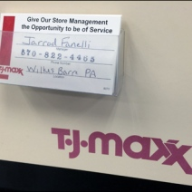 TJMaxx Welcomes Comments Manager Bus Card