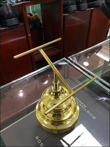 Bostonian Shoe Pedestal in Brass Main