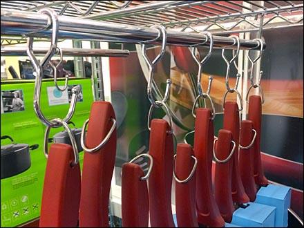 Cookware Hang Rod J-Hook Display