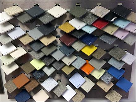 Corian 174 Tip On Tile Display Fixtures Close Up Retail Pop