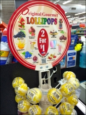 Gourmet Lollipops Front View