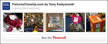 Lighting Merchandising Pinterest Board