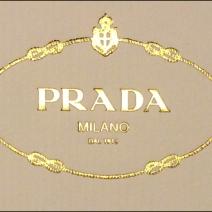 Prada Personal Invitation Gold Foild Logo