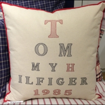 Tommy Hiulfiger Home Pillow Branding 1985