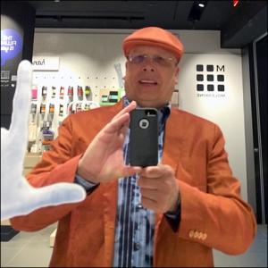 Tony Kadysewski Moleskine Store Selfie CloseUp