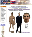 Barack Obama Mannequin Store Fixtures USA 2