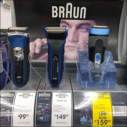 Braun Shaver in Ice Cube Main