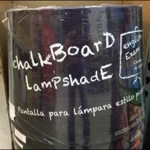 Chalkboard Lampshade Detail
