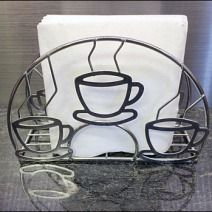 Coffee Cup Napkin Holder Front