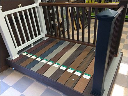 Trex 174 Color Coded Deck Display Fixtures Close Up Retail Pop