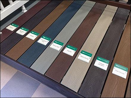 Trex 174 Color Coded Deck Display Fixtures Close Up Retail Pop