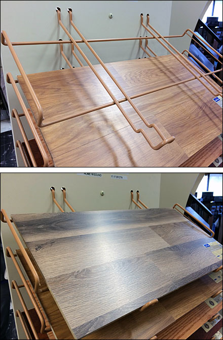 Declined Hook Arm Trays for Flooring Main