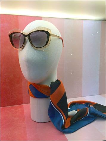 Fendi Summer Scarf and Sunglass Headform Aux