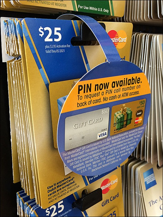 Gift Card Dangler PIN Number Notice Front