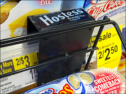 Hostess Branded Bar Tray on Shelf Edge Main