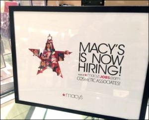 Macys Now Hiring Overall