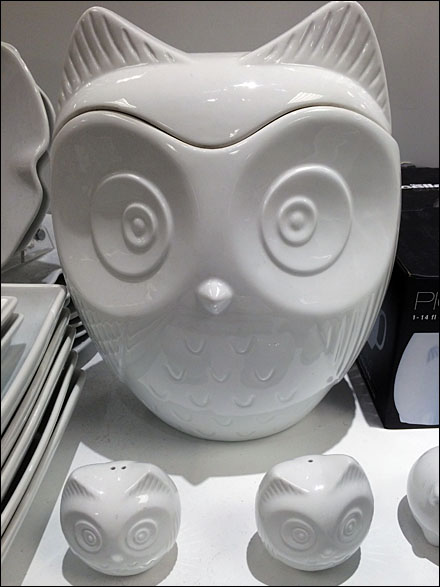 Owl Tableware Front