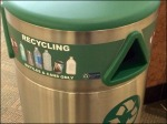 Recycling in Stainless Steel Closeup