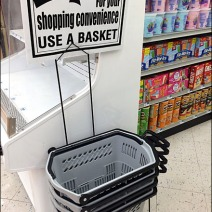 Shopping Hand Basket With Wheels 1