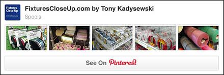 Spools Pinterest Board for FixturesCloseUp