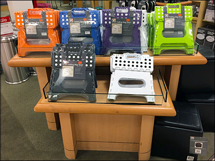 Up Selling Inexpensive Step Stools Fixtures Close Up