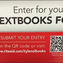 Tylenol Textbooks for Semester QR Code Aux