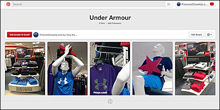 Under Armour Pinterest Board