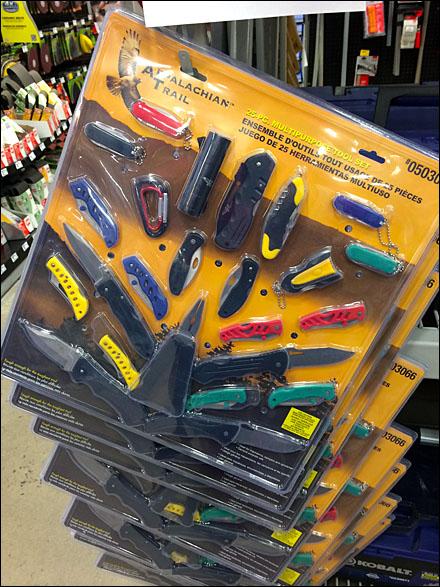 25pc Knife Strip Merchandiser Bulk Pack Main