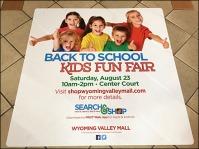 Back to School Kids Fun Fair Floor Graphic Aux
