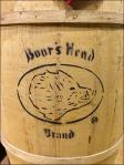Boar's Head Branded Wood Barrel CloseUp
