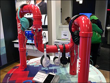 Bose PVC Pipe Headphone Display 2
