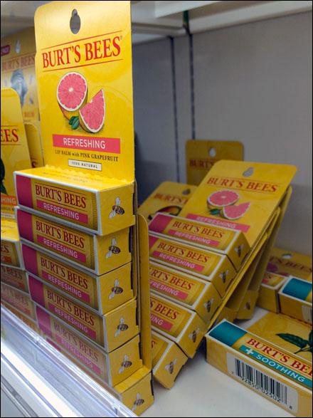 Burt's Bees Shelf Edge Jenga Main