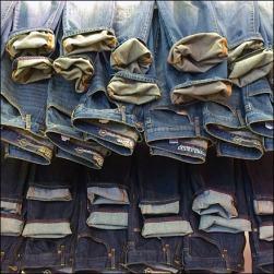 Cuffed Cascade of Jeans Detail