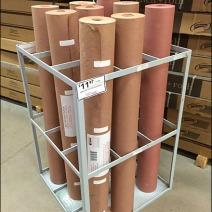 Gridded Floor Quiver for Red Rosin Paper Rolls Aux