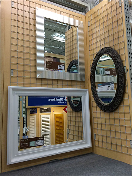Gridded Mirror Display Main