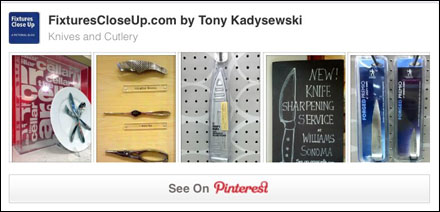 Knives and Cutlery Pinterest Board of FixturesCloseUp