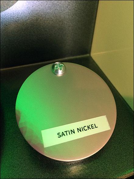 Screwed-down Satin Nichol Sample Front
