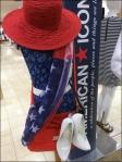 American Icon Flag Draped Fabric Aux