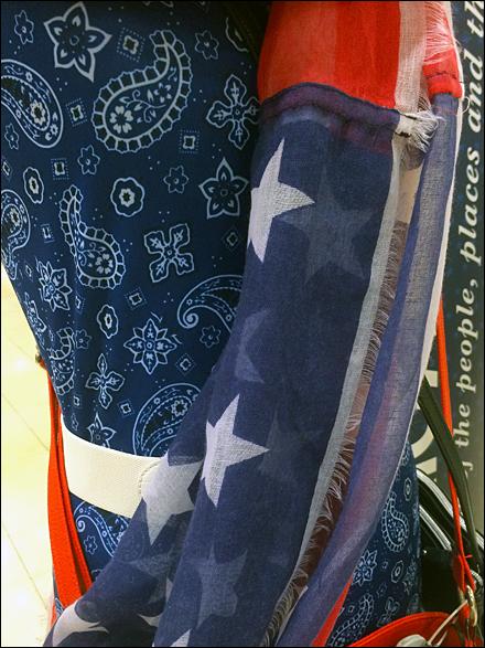 American Icon Flag Draped Fabric Detail